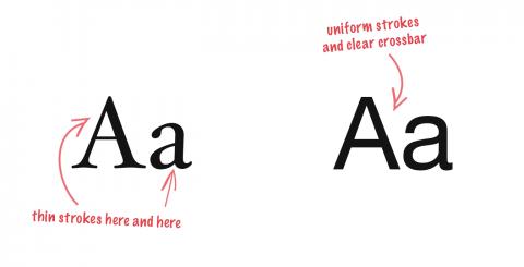 Het juiste font versterkt je narrowcasting boodschap