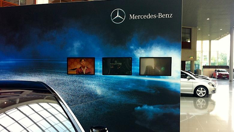 Narrowcasting Intern bij Mercedes-Benz