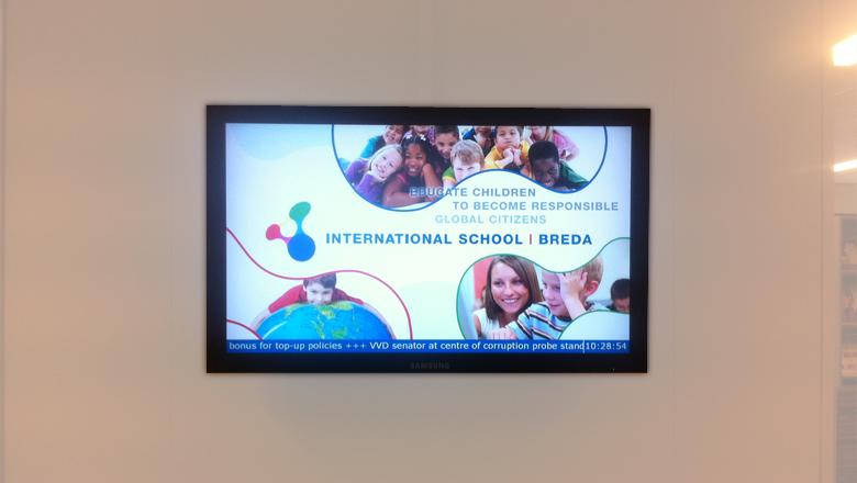 Narrowcasting bij International School Breda