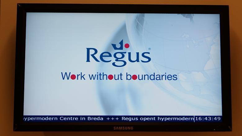 Narrowcasting bij Regus