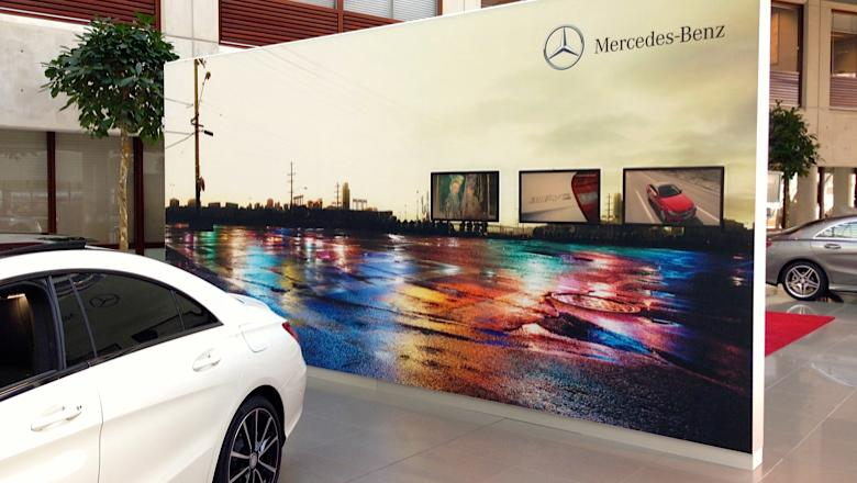 Narrowcasting bij Mercedes-Benz