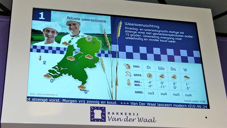 Narrowcasting bij Bakkerij Van Der Waal